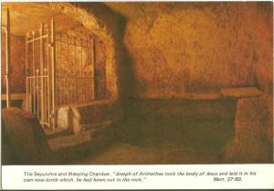 Jerusalem, The Garden Tomb, Interior, unused Postcard