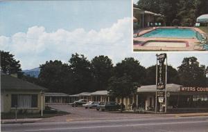 Myers Court, Swimming Pool, U. S. Highway 19, BRYSON CITY, North Carolina, 19...