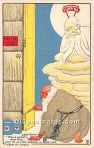 Advertising Postcard - Old Vintage Antique Saint Pierre Unused