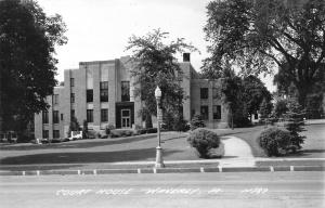Waverly IA Public Works Administration Funded~Modern Courthouse RPPC c1940