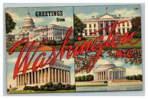 Vintage 1948 Postcard Greetings From Washington DC - Monument Views