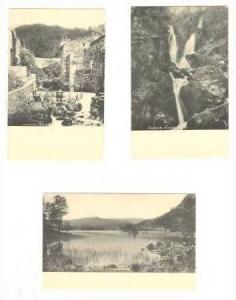 3-PCs, Ambleside, UK, 00-10s Old Mill, Stock Ghyll Force, & Rydal Water