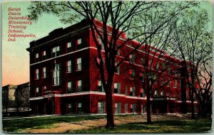 1913 Indianapolis IN Postcard Sarah Davis Deterding Missionary Training School