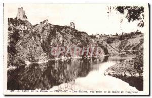 Old Postcard Crozant Ruins Vue Prize Route Gargilesse