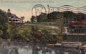 Riverton Park Casino From Pride's Bridge Portland Maine 1911