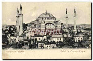 Old Postcard Mosque St sophine Hi Constantinople