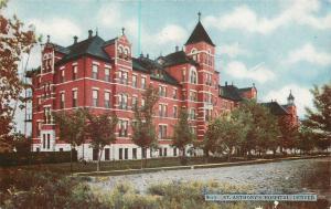 Denver CO~Dirt Road Past St Anthony's Hospital~1910 Postcard