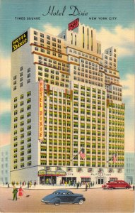 Hotel Dixie 43rd Street West of Broadway New York City NY Old Cars Unused