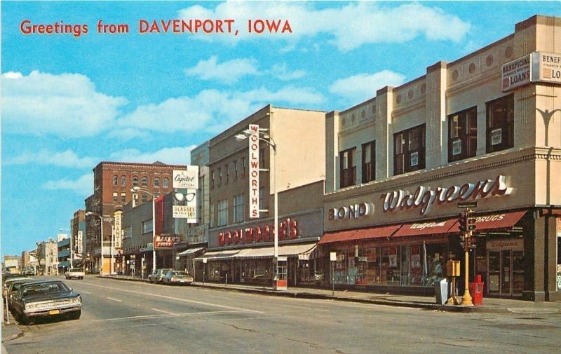 Davenport IA~Bond Walgreens~Woolworth's~Capitol Optical~Grants~1970s PC