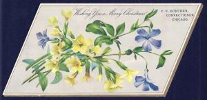 VICTORIAN TRADE CARD CF Gunther Confections Xmas Card