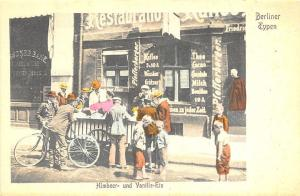 Berlin Germany Types Himbeer und Vanille - Eis (Raspberry vanilla Ice) Postcard