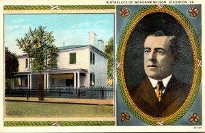 Virginia Staunton Birthplace Of Woodrow Wilson Curteich