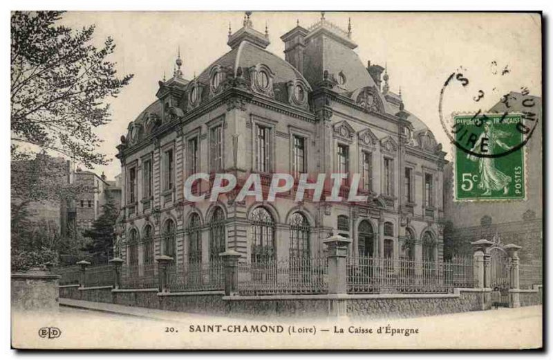 Old Postcard Bank Caisse d & # 39Epargne Saint Chamond