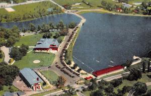 Bloomington Illinois Miller Park Birdseye View Antique Postcard K90896