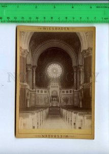 294126 GERMANY 1889 year Wiesbaden synagogue Vintage CABINET PHOTO