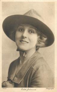 American actress of the silent era Edith Johnson