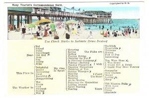 Busy Tourist`s Correspondence Card, Used Auburn Maine, 1933