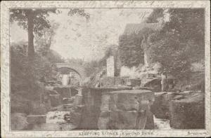 stepping stones jesmond dene carte postale postcard with uno penny red stamp 190