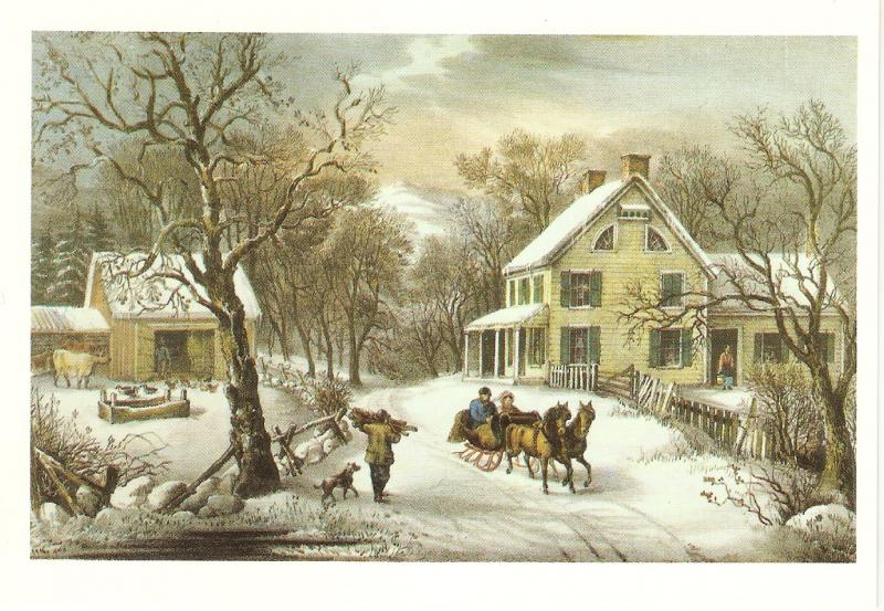 American Homestead Winter Nice American PC 1990s. Size 6 x 4