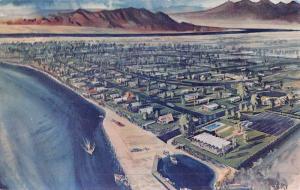 Kingman Arizona River Bend Birdseye View Vintage Postcard K52589