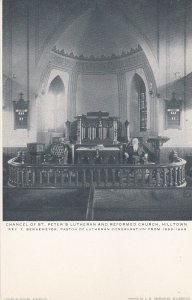HILLTOWN, PA, 1901-07; Chancel of St. Peter's Lutheran and Reformed Church