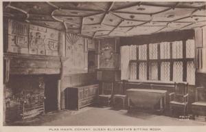 Plas Mawr Conway Queen Elizabeth II Elizabeths Sitting Room Postcard