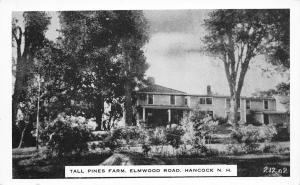 Hancock-Bennington New Hampshire~Reaveley Hostess~Tall Pines Farm Resort 1940s