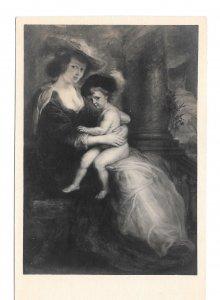 RPPC Artist Rubens Helene Fourment et son Portrait Noyer Art Exposition Postcard
