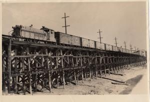 RP; Train on Bridge , B.C. , Canada , 1910-30s