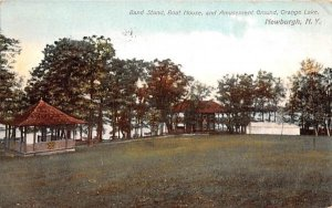 Band Stand, Boat House, & Amusement Ground in Newburgh, New York