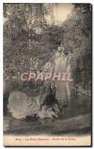 Old Postcard Paris Buttes Chaumont River Grotto