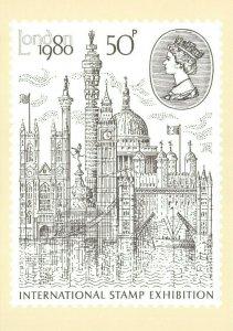 PHQ Stamp Postcard No.43 International Stamp Exhibition 1980 CL4