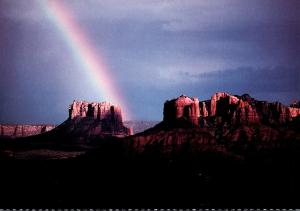 Arizona Sedona Rainbow From Cathedral and Courthouse Rock