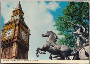 Big Ben and the Boadicea Statue, London, unused Postcard