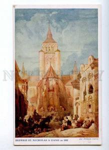 191275 WWI BELGIUM GAND St.Nicholas belfry CALLOW Old charity