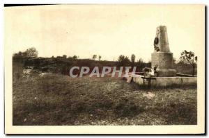 Old Postcard Fort Douaumont monument of 74th Battalion Army RI