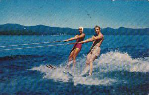 Water Skiing At The Allen A Resort Wolfeboro New Hampshire 1958