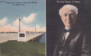 Florida Fort Myers Thomas A Edison Memorial Bridge The Late Thomas A Edison