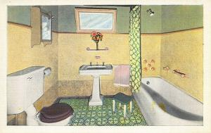 Memphis TN C C Heflin Postcard Publisher Bathroom Fixtures Toilet Advertising