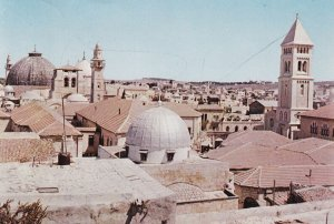 JERUSALEM, Israel, PU-1962; View Of The Old City