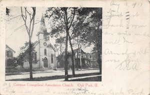 G11/ Oak Park Illinois Postcard 1907 German Evangelical Association Church