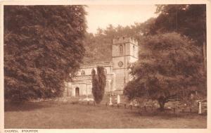 STOURTON WILTSHIRE UK CHURCH~R A SERIES PHOTO POSTCARD PUBLISHER G HOLLIS