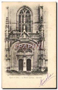 Postcard Old Brou Church Bourg the lateral portal