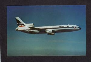 Delta Airlines, Delta airplane, Delta Plane Lockheed L-1011 Aviation Postcard