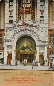 H69/ Philadelphia Pennsylvania Postcard c1910 Keith's Theatre Entrance 40