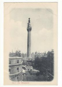 UK London England Great Fire Monument Vtg Beagles Postcard