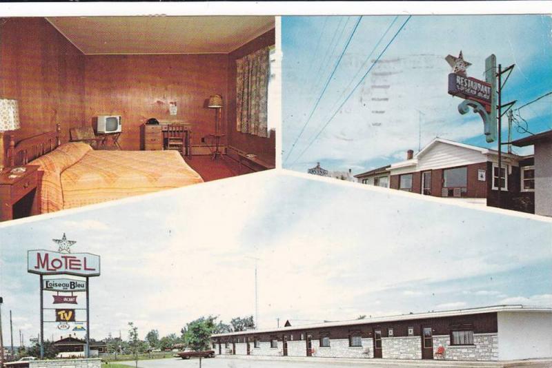 3-Views, Restaurant- Motel L\'Oiseau Bleu, Co. Laviolette, Quebec ...