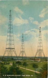 C-1910 US Wireless Station Fort Myer Virginia Reynolds postcard 9920