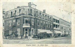 Windsor Hotel St. Johns Quebec Canada early postcard