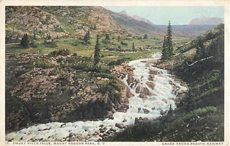 W/B Smoky River Falls Mount Robson Park British Columbia BC
